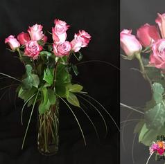 Le classique : 1 douzaine de roses
