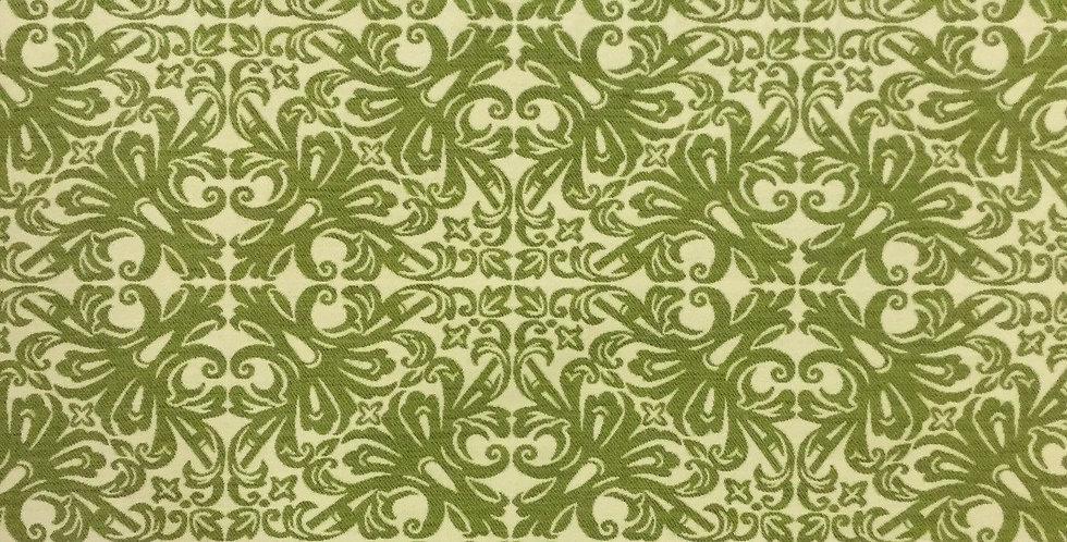 Green Damask Trellis