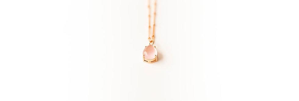 Necklace - Rose Quartz  in Rose Gold