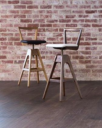 TH Brown Danish Bar Stool