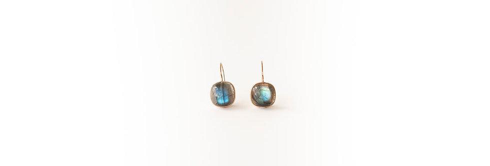 Earrings - Labradorite Rose Gold