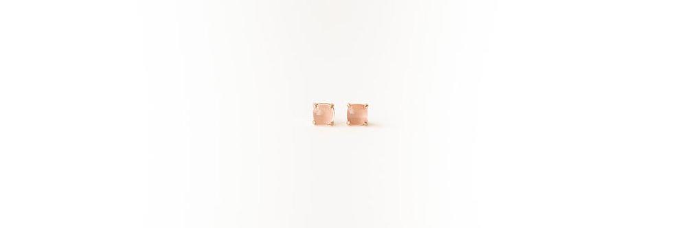 Earrings - Rose Quartz Rose Gold