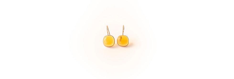 Earrings - Citrine Rose Gold