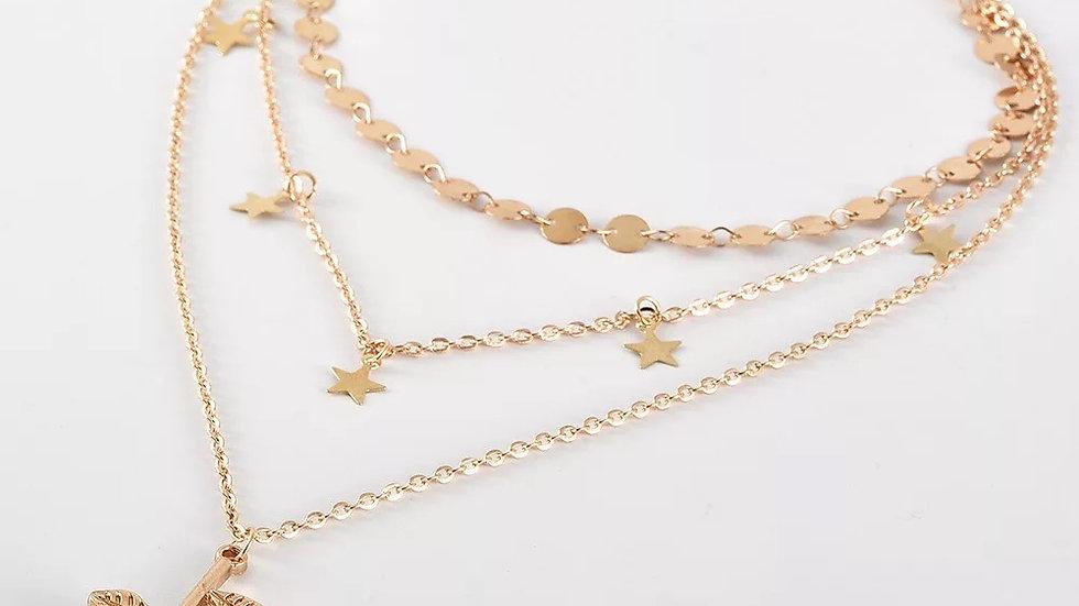 Rose Pendant Necklace Set
