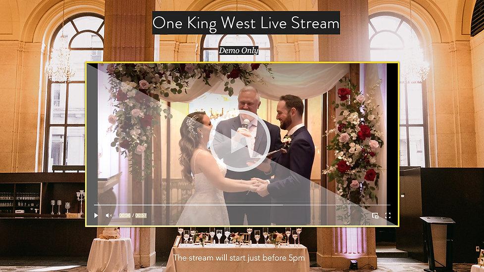 Toronto Wedding Webcasting