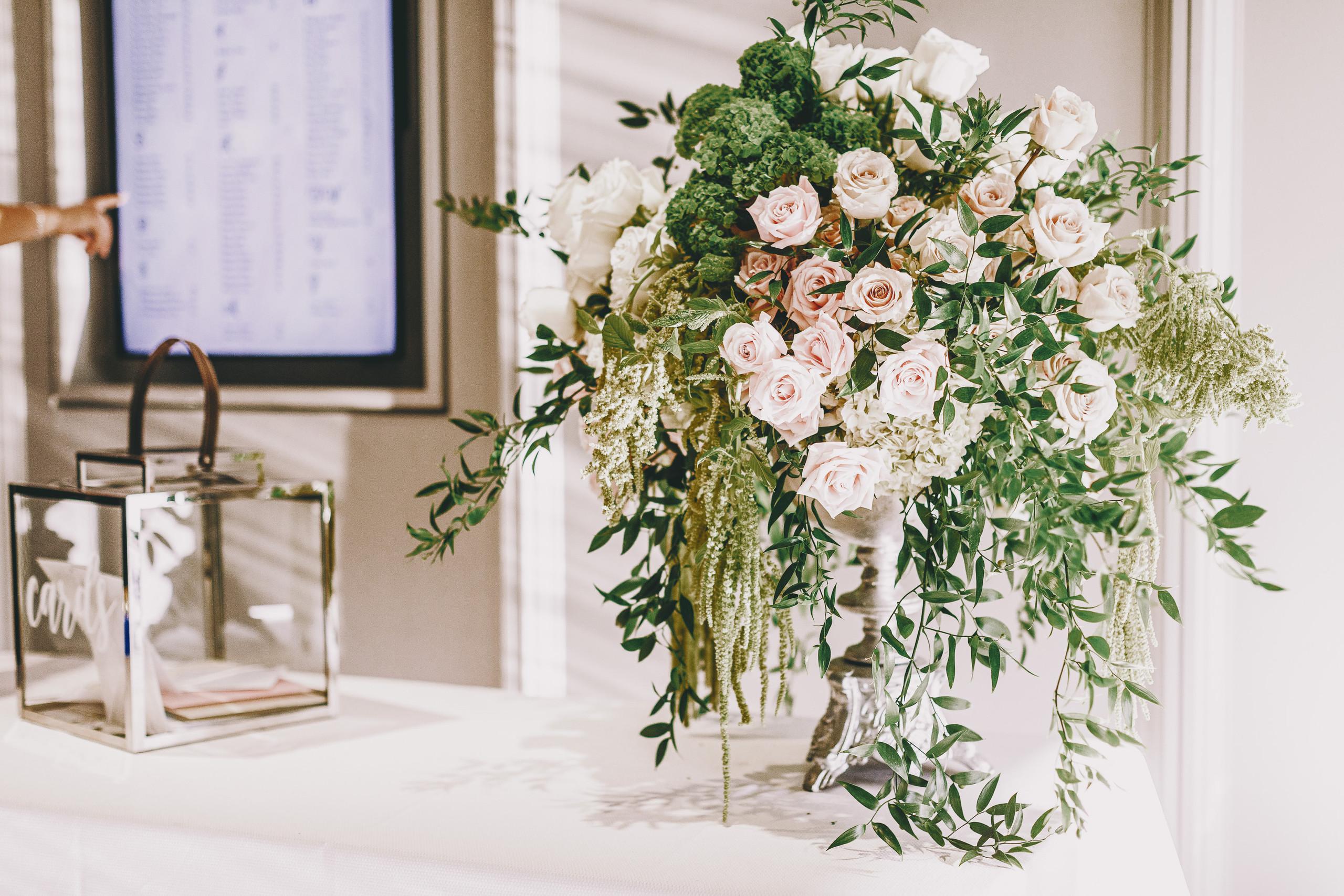 Luxurious flowers at the Arlington Estate