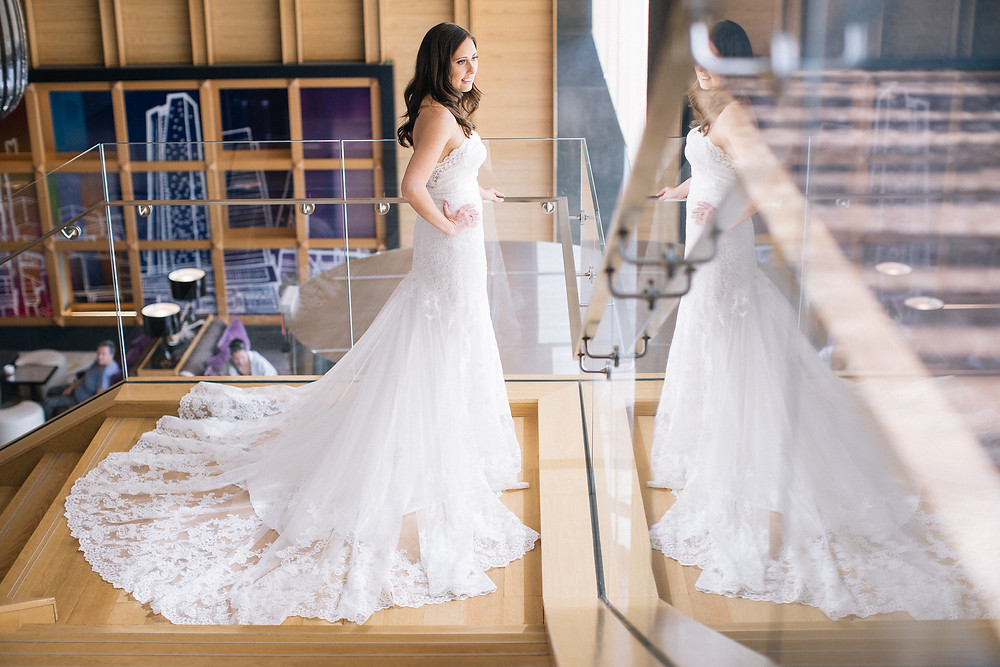 A bride at the Delta Hotel downtown Toronto