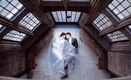 Bride and groom at The Hart House in Toronto