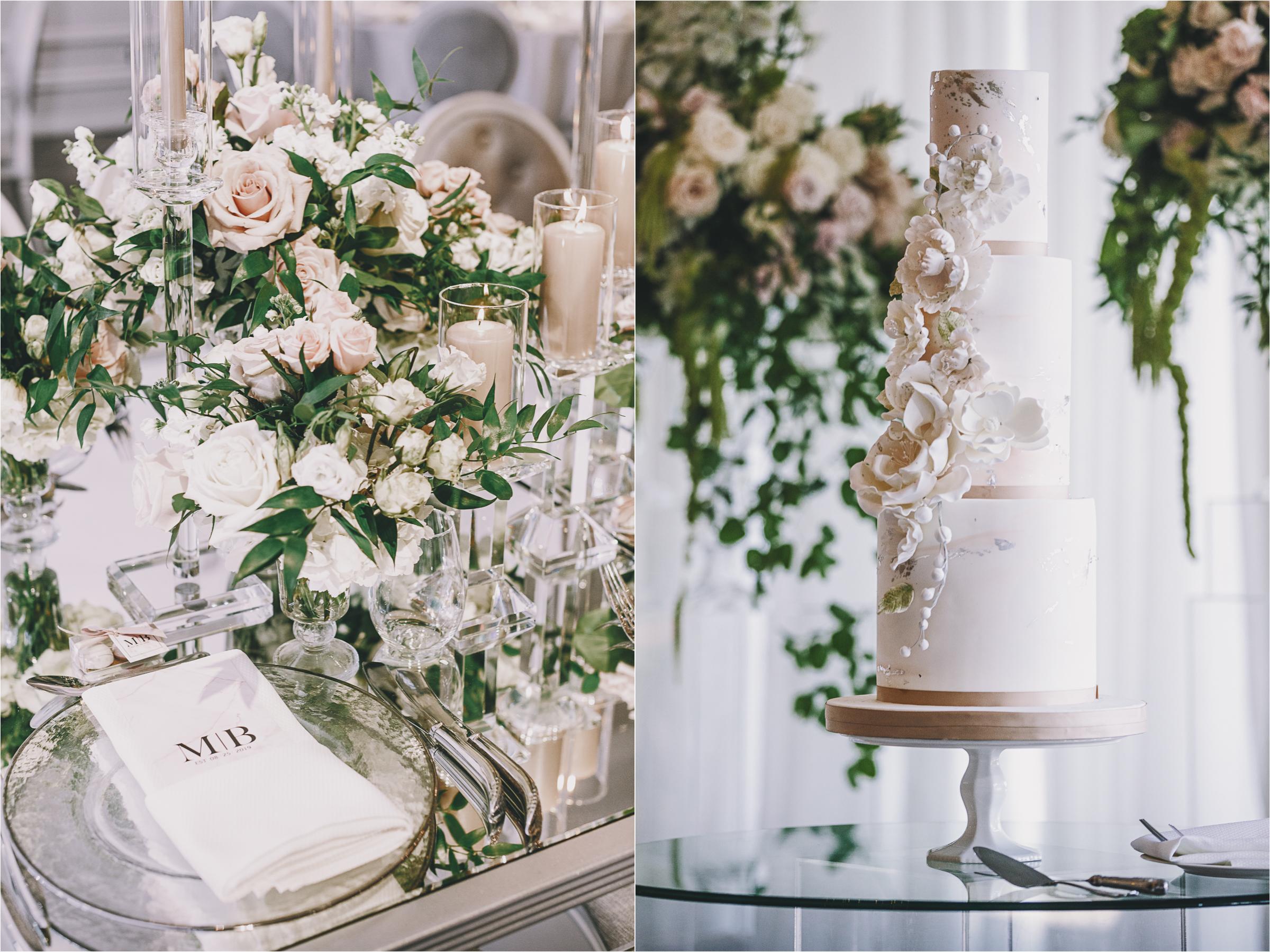 Lavish wedding tables at the Arlington Estate