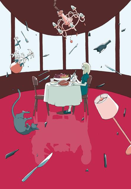 『ポルターガイスト 3分でのぞく不思議・謎・怪奇』装画 文:船木妙子さん 金の星社