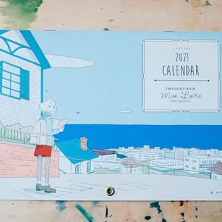 チョコレートハウス「モンロワール」2021年カレンダーイラスト