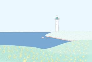 詩人 白井明大さんのウェブサイト「Le phare poétique」イラスト提供