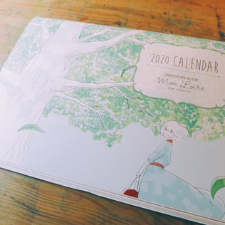 モンロワール2020年カレンダー イラストレーション
