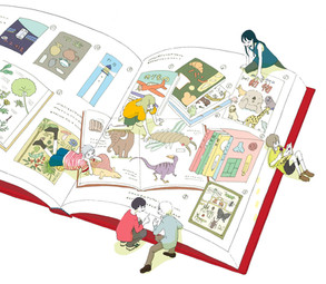 『母の友』2021年8月号特集「図鑑LOVE」挿絵 福音館書店