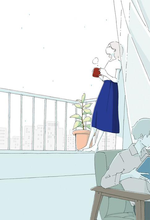 揺れる心の真ん中で 装画 2019  著 夏生さえりさん 装丁 bookwall 幻冬舎