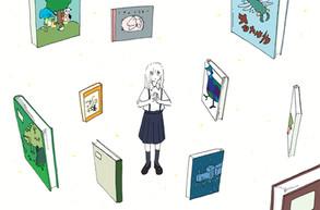 新聞連載「学校図書館の育て方」第6回挿絵 著:中山美由紀さん (共同通信社を通じて数誌で掲載)