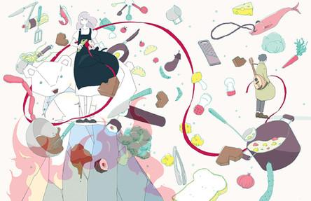 『料理なんて愛なんて』装画 著:佐々木愛さん 装丁:大久保明子さん 文藝春秋