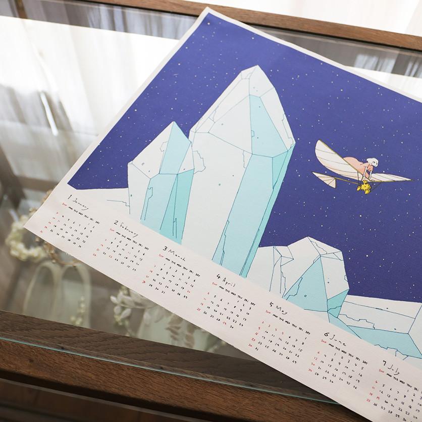 オリジナルテキスタイル製作会社nunocoto ファブリックカレンダーイラスト提供
