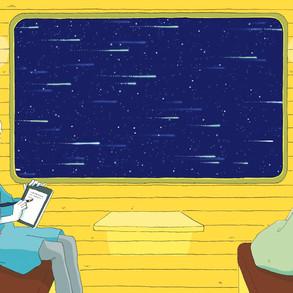 夜空と交差する森の映画祭2020 ポストカードイラスト