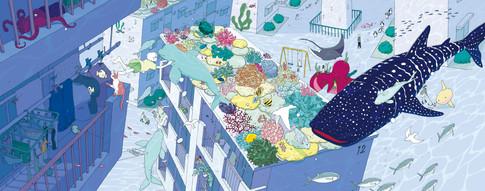 SFアンソロジー『GENESIS されど星は流れる』装画 装丁:小柳萌加さん・長崎綾さん(next door design) 東京創元社