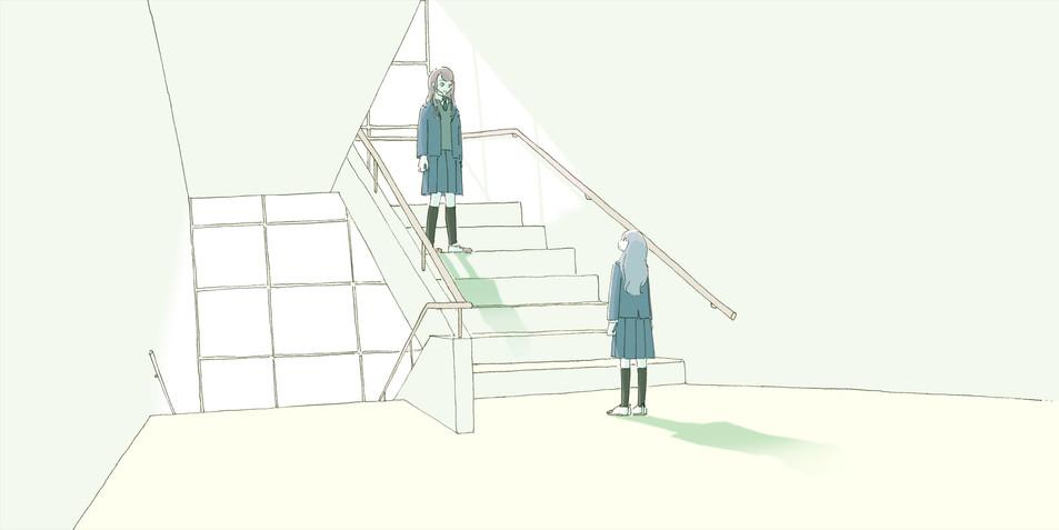 欅坂46・日向坂46公式音楽ゲームアプリ「ユニゾンエアー」内ドラマ『顔のない羊』イラスト