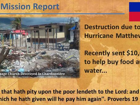 2016 Haiti Mission Report