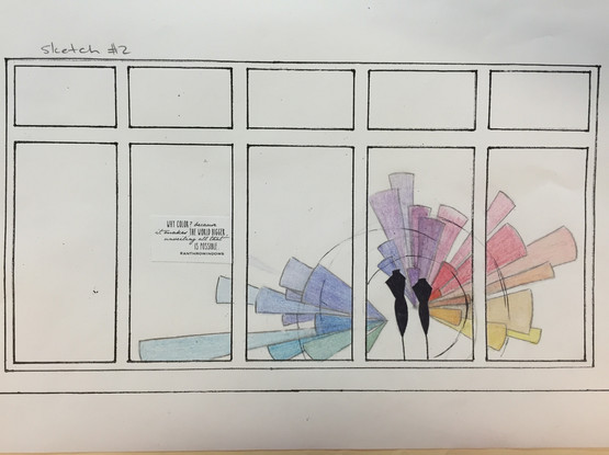 Process - Color Theory Window - Anthropologie