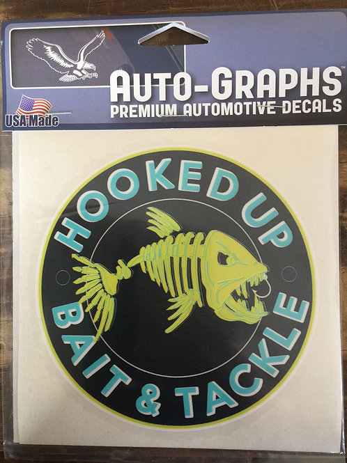 Hooked Up Logo Decal