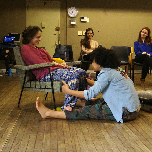 Rehearsal, Dike at New York Theatre Workshop