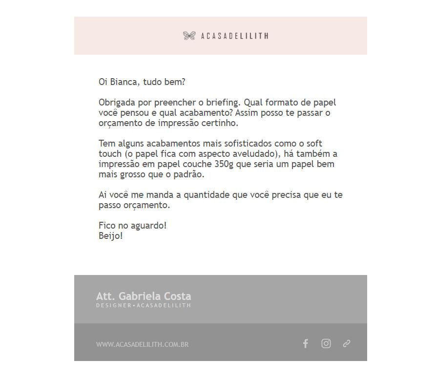 email em html com design personalizado - encomendar