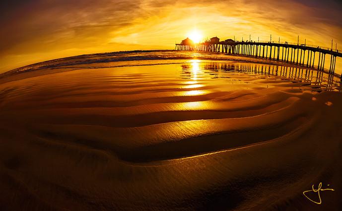 Fiery Huntington Sunset