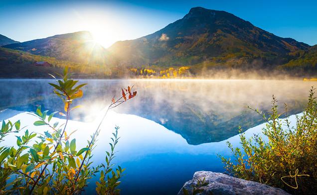 Foggy Autumn Mirror