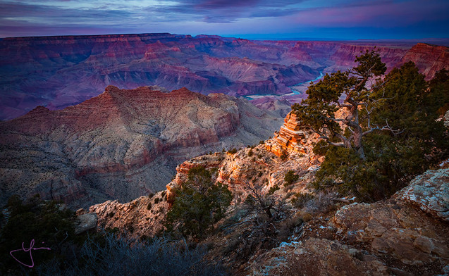 Warm Light In the Cool Canyon