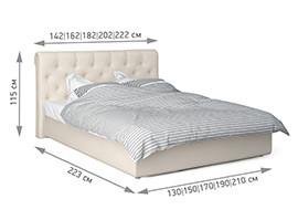 Кровать Грейс размеры