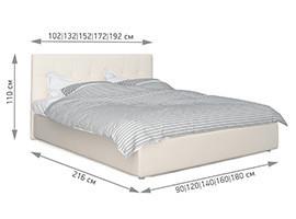 Беллучи кровать размеры 2