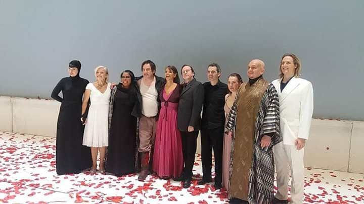 Cast photo, R. Strauss: The woman without a shadow, Opera Wiesbaden, Germany