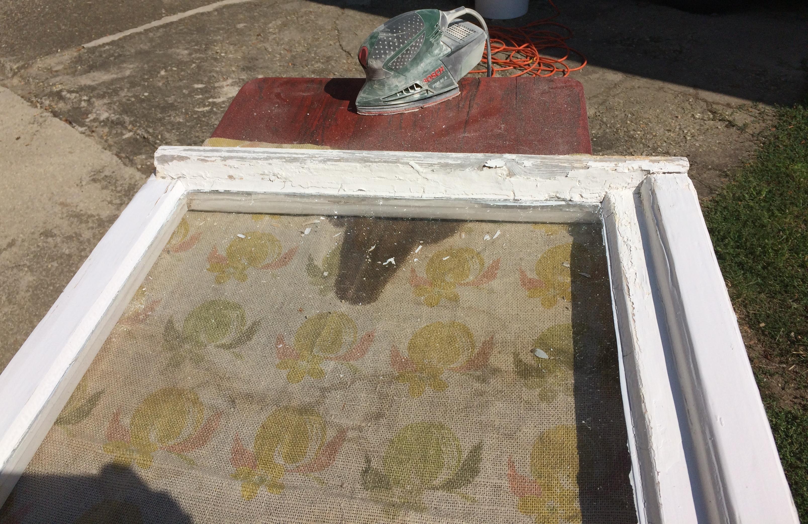 Maling av vinduet FØR