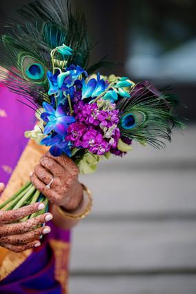 Bridal-bouquet-jewel-tone-peacock-feathe