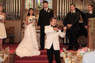 Korean-bride-American-groom-violin-solo-
