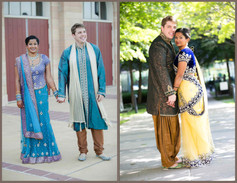 Indian Bride and Caucasian Groom