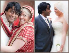 Indian Groom and Caucasian Bride