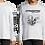 Thumbnail: T-Shirt - Past In Devotion - Long sleeve - Black/White