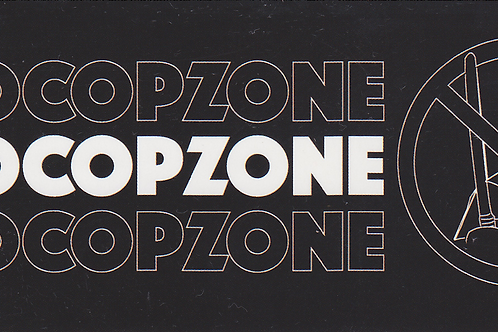 #NoCopZone Sticker