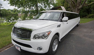 Infiniti QX 80 stretch limo servicing Newport and Providence RI