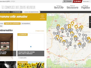 55 300 visites pour www.tourisme-gers.com au mois d'octobre