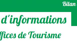 Bilan 2019 : près de 82 000 contacts dans les Offices de Tourisme