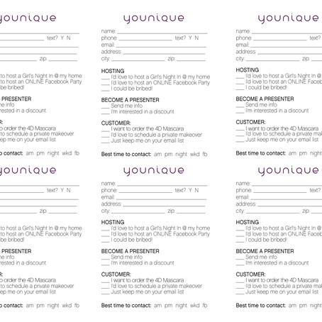 VENDOR / DRAWING Contact Cards & Printable Order Forms