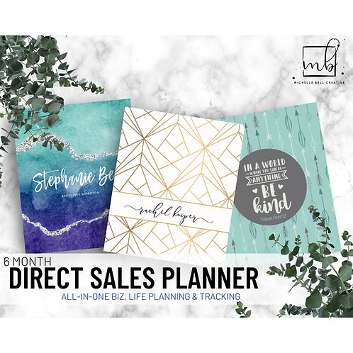6 Month Direct Sales Planner: JUL-DEC 2020