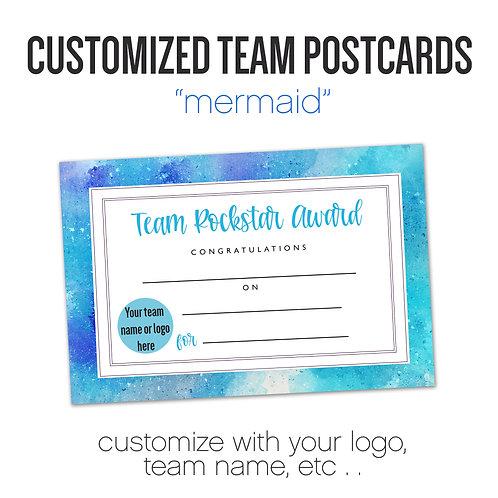 """""""MERMAID"""" Customized Team Postcard"""