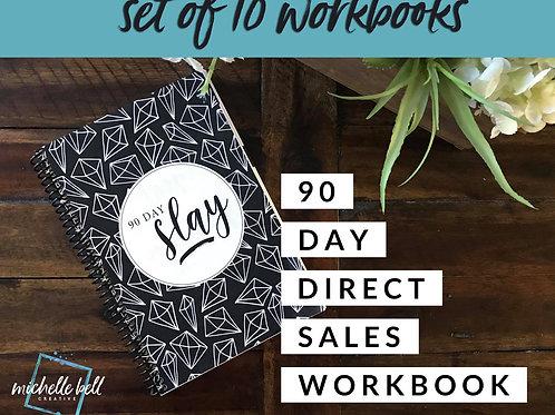 SET OF TEN - 90 Day Slay Workbooks